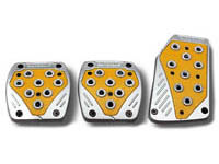 2009-9999 Dodge Ram Matrix Universal Pedals - Import (Silver/Yellow)
