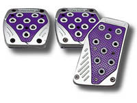 1973-1991 Chevrolet Suburban Matrix Universal Pedals - Import (Silver/Purple)