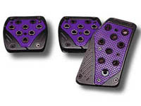 2003-9999 Honda Pilot Matrix Universal Pedals - Import (Black/Purple)