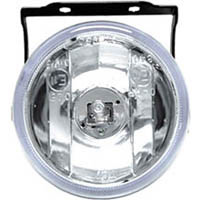 1966-1976 Jensen Interceptor Matrix Foglights - Round Black Housing II (Clear)