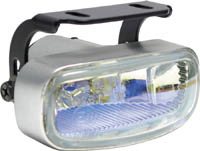 1999-2002 Daewoo Lanos Matrix Foglights - Rectangular Silver (Rainbow)