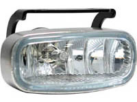 1999-2002 Daewoo Lanos Matrix Foglights - Rectangular Silver (Clear)