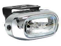 1999-2002 Daewoo Lanos Matrix Foglights - Rectangular Chrome II (Clear)
