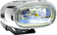 1999-2002 Daewoo Lanos Matrix Foglights - Oval Chrome II (Rainbow)
