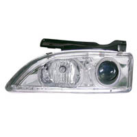 95-99 Chevrolet Cavalier Matrix Headlights - Projectors (Chrome/Clear)