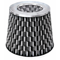 1980-1987 Audi 4000 Matrix Air Filters - 4-1/2 Inch Checkered (Chrome)