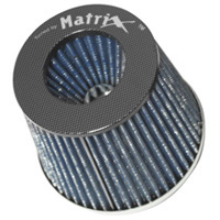 1980-1987 Audi 4000 Matrix Air Filters - Carbon Fiber Top (Blue)