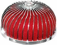 1980-1987 Audi 4000 Matrix Air Filters - Spiral Mushroom (Red)