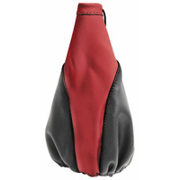 All Jeeps (Universal), Universal - Fits all Vehicles Matrix Universal Shift Boots - 2 Tone Leather (Black/Red)