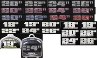 "2007-9999 Audi RS4 Matrix Emblems - 18"" Chrome (3M Tape Each)"