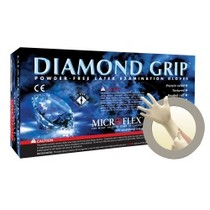 2008-9999 Smart Fortwo Micro Flex Diamond Grip Powder-Free Latex Gloves - Large