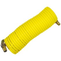 "1966-1970 Ford Falcon Milton Industries 3/8"" x 25' Nylon Re-Koil Air Hose, Yellow"
