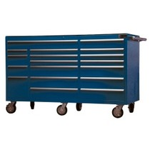 "1999-2007 Ford F250 Mountain Blue 72"" 18 Drawer Tool Cabinet"