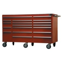 "1974-1983 Mercedes 240D Mountain Red 72"" 18 Drawer Tool Cabinet"