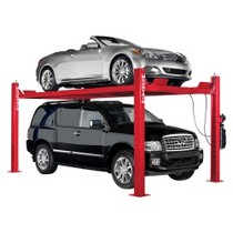 2003-2004 Infiniti M45 Mountain 9K 4-Post Extended Height Service/Storage Lift - Red, Uninstalled