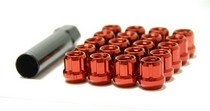 1995-1999 Oldsmobile Aurora Muteki Open Ended Lug Nuts 12x1.5 (Red)