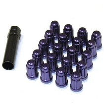 1991-1996 Saturn Sc Muteki Closed End Lug Nuts 12x1.5 (Purple)
