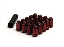 1991-1993 GMC Sonoma Muteki Closed End Lug Nuts 12x1.5 (Red)