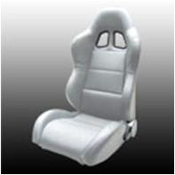 1954-1975 Jeep CJ Netami Euro Racing Seat - Sim Leather (Gray)