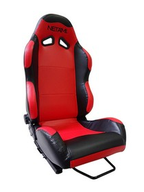 2001-2003 Honda Civic Netami Racing Seats - Renegade (Red/Black)