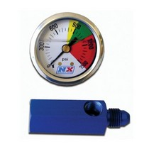 1998-2002 Lincoln Town_Car Nitrous Express D-4 Flo-Thru Pressure Gauge (0-1500 PSI)