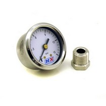1995-1997 Lincoln Continental Nitrous Express Pressure Gauge (0-15 PSI with Adaptor)