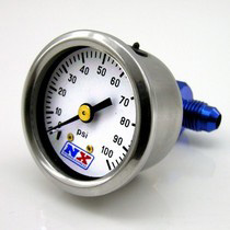 1998-2002 Lincoln Town_Car Nitrous Express Fuel Pressure Gauge (0-100 PSI with Manifold)
