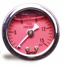 Universal NOS® Liquid Filled Fuel Pressure Gauge (0–15 PSI)