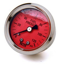 Universal NOS® Liquid Filled Fuel Pressure Gauge (0 to 120 PSI)