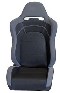 2002-2004 Volvo S40 NRG Racing Seat - EVO Black Cloth Sport (Left)
