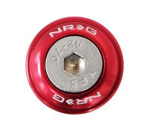 NRG 10pc Universal Orange Fender Bumper Washer Kit Silver Bolt for Metal 110OR