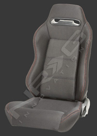 1995-1999 Nissan Maxima NRG Racing Seats Type-R Cloth Sport (Black w/ Red Stitch