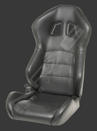 1998-2001 Volkswagen Passat NRG Racing Seat - Ferrari XM2 PVC Leather Sport (Red w/ Black Trim) (Left)
