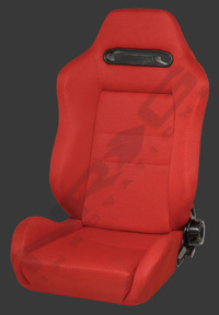2002-2004 Volvo S40 NRG Racing Seat - Type-R Cloth Sport (Red w/ Red Stitch) (Left)