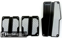 All Jeeps (Universal), All Vehicles (Universal) NRG Innovations MT Brushed Aluminum Sport Pedals (Black w/ Silver Carbon)