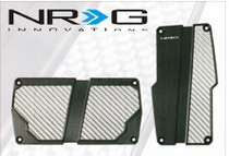 1998-2000 Mercury Mystique NRG Innovations AT Brushed Aluminum Sport Pedals (Black w/ Silver Carbon)