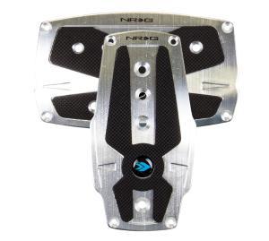 Fit Suburban Manual Transmission 3pc Carbon Fiber Aluminum Race Pedal Pad Cover