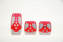 1961-1964 Mercury Monterey NRG Innovations AT Aluminum Sport Pedals (Red w/ Silver Carbon)