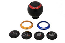 All Jeeps (Universal), All Vehicles (Universal) NRG Innovations Shift Knob w/ 4 Interchangeable Rings (Black)