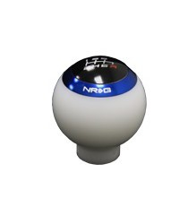 All Jeeps (Universal), All Vehicles (Universal) NRG Innovations Shift Knob w/ 4 Interchangeable Rings (White)