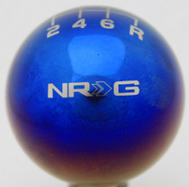 1968-1971 International_Harvester Scout NRG Innovations Ball Style Titanium 5-Speed Shift Knob, NRG Logo w/ Shift Pattern