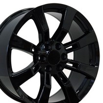 "2000-2006 Chevrolet Tahoe OE Wheels 22""X9"" Escalade Replica Wheel (Black)"
