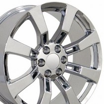 "2000-2006 Chevrolet Tahoe OE Wheels 20""X8.5"" Escalade Replica Wheel (Chrome)"
