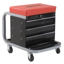 1997-2002 GMC Savana Omega 300 Lb. Capacity Creeper Seat Tool Box