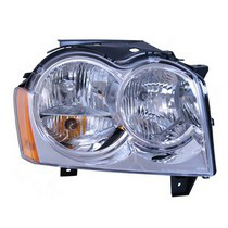 05-07 Jeep Grand Cherokee Laredo, 05-07 Jeep Grand Cherokee Limited, 06-07 Jeep Grand Cherokee Overland, 06-07 Jeep Grand Cherokee SRT8, 2006 Jeep Grand Cherokee 65th Anniversary Edition Omix-Ada Headlight Assembly - Right