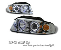1996-1999 Audi A4 Option Racing Headlights - Projector 1 PC (Chrome w/ Halo)