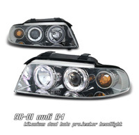 1996-1999 Audi A4 Option Racing Headlights - Projector 1 PC (Titanium w/ Halo)