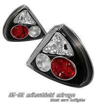 1993-1996 Mitsubishi Mirage Option Racing Tail Lights - Altezza (Black)