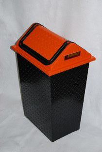 1968-1976 BMW 2002 Owens RaceMates Waste Trash Receptacle With Swinging Lid - Diamond Tread