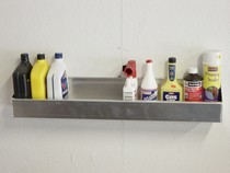 1990-1996 Chevrolet Corsica Owens RaceMates Quart Size Storage Shelf - Smooth Aluminum - Smooth Aluminum